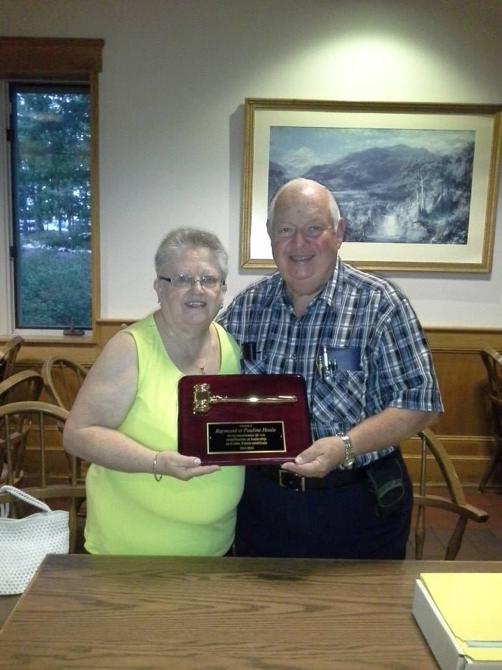 We honor our Franco-Americans of the year: Raymond and Pauline Houle